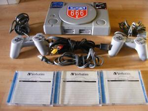 Console Playstation 1(modchip)+accessoires+jeux