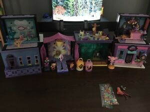Little Pet Shop LPS 6 play sets + pets!!!