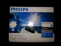 D1S HID bulbs Philips Ultinon 6000K Flash White
