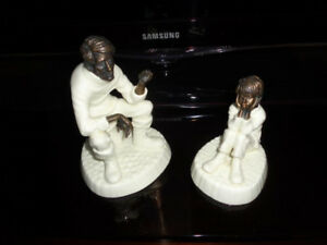 VINTAGE MINTON FINE BONE CHINA and BRONZE FIGURINE
