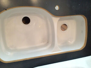 undermount double kitchen sink
