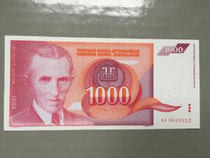 SOLD - SET OF 2 BANKNOTES YUGOSLAVIA 1992, 1993 UNC