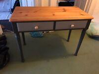Solid Pine Desk / Side Table