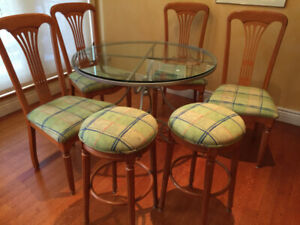 Kitchen chairs with matching bar stools