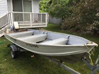 14' Northwood Fishing Boat w/ Trailer and 15 HP Evinrude Motor