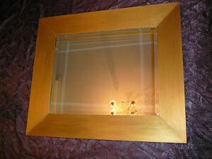 Superbe miroir de luxe Européen cristal biseauté, 100cm signé