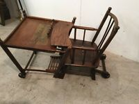 Antique 3in1 childrens metamorphis chairs