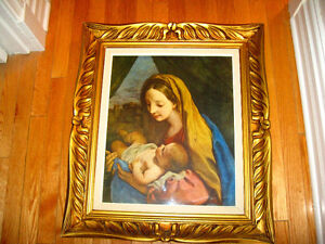 Magnifique Reproduction Madonna & Child Carlos Maratta 1625-1715