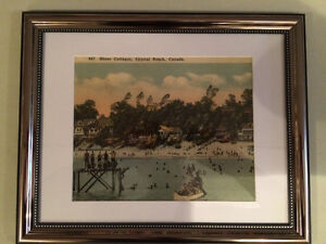 Crystal Beach Cottages & Swimmers Print Circa 1920's