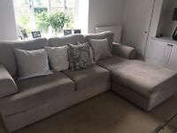 AMAZING 6 MONTH OLD 4 SEATER CORNER SOFA AND 3 SEATER
