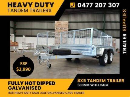 600 cage Tandem Galvanised Cage Trailer 8x5 dual axle Dandenong Greater Dandenong Preview