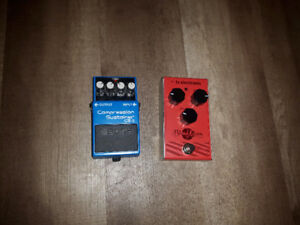 Boss CS-3 and TC electronic phaser