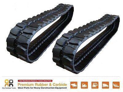 2pc Rubber Track 400x72.5x74 Hitachi Ex 55urg 59mu Ihi Is50g 50g3 50gx Excavator