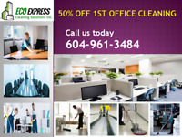 50% Off 1st Office Deep Cleaning Services 604-961=3484