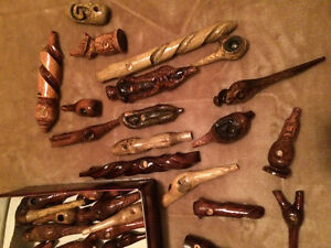 Hand carved wood pipes sale half off Belleville Belleville Area image 1