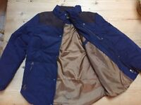 Men's Padded Military Style Fitted Coat, size M