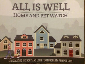 ALL IS WELL HOME AND PET WATCH