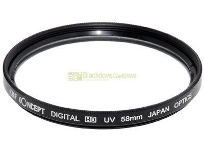 58mm. filtro UV K&F Concept Digital HD. Ultra Violet filter.