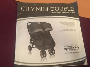 City mini double stroller by baby jogger