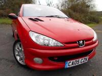 2005 05 PEUGEOT 206 1.6 SPORT COUPE CABRIOLET 2D 108 BHP ** NICE EXAMPLE , PART