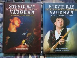 STEVIE RAY VAUGHAN, DAY BY DAY, NIGHT AFTER NIGHT- 2 BOOKS