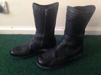 Womens real leather bike boots 8