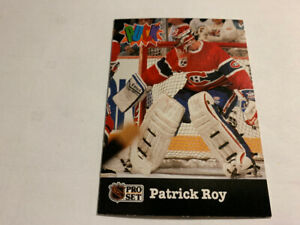 1991-92 Pro Set Puck Candy #14 Patrick Roy Montreal Canadian NM