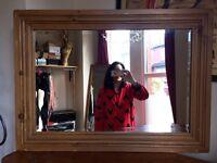 Pine Bevelled Mirror