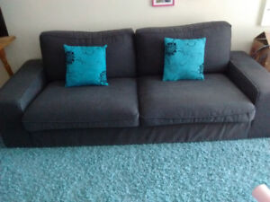 IKEA Kivik sofa dark gray