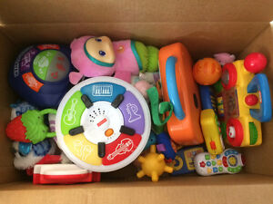 Box of baby/ toddler toys