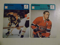 1970'S  RARE  BOBBY ORR AND JEAN BELIVEAU  JUMBO CARDS !!!