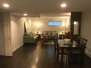 Large 1 bedroom basement suite for rent Dec 1 or 15th