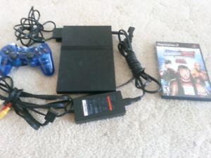 $75 OBO COMPLETE PS2 SLIM GAME SYSTEM WITH MEMORY CARD & GAME