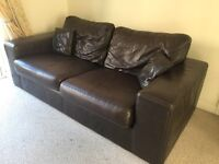 Klaussner top quality leather sofa and cuddle chair was £4000 new
