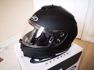 HJC Helmet, Motorcycle Helmet, IS17, Solid Matte Black