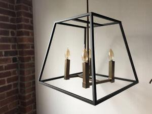 Luminaire suspendu contemporain industriel