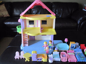 Fisher Price Dollhouse and accessories