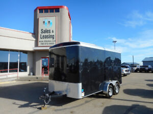 2018 TNT 7x14 Enclosed Trailer Black/Ex Height/Ramp $6799