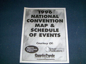 SPORTS CARDS 1996 NATIONAL CONVENTION MAP & SCHEDULE