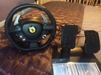 Xbox 360 Ferrari steering wheel and pedals