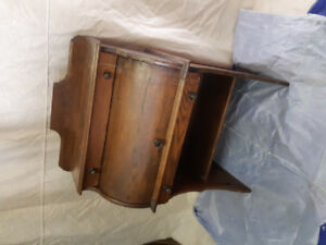 Antique solid oak child's roll top desk