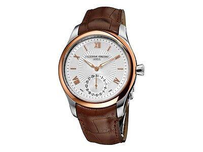 Frederique Constant Men's FC-700MS5MZ9 Automatic Leather Strap Watch 18k Gold