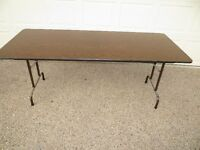 FOLDING BANQUET TABLE  6 FT BY 30 INCHES