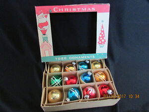 Box Vintage Glass christmas Tree Ornaments $10 Per Box