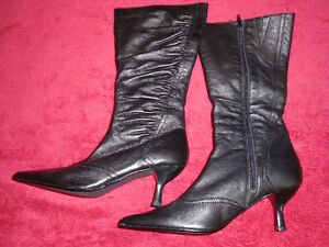 Brand new black leather boots , made in Germany. London Ontario image 2