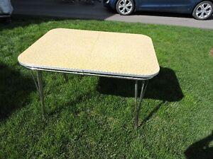 Vintage Arborite and Chrome Table