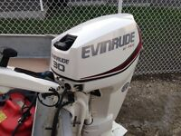 Used twice last year 2014 30 hsp Evinrude E Tech
