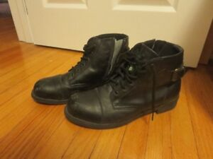 Featherlike Womens Safety Work Boots Size 8.5 Black
