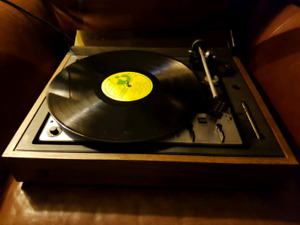 Dual Stereo Turntable Record Player