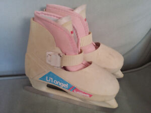 Girls Size 12-13 Lange Lil' Angel Skates